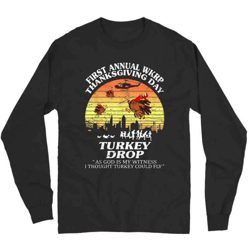 Wkrp-turkey-drop Thanksgiving Gift T-shirt Long Sleeve T-shirt
