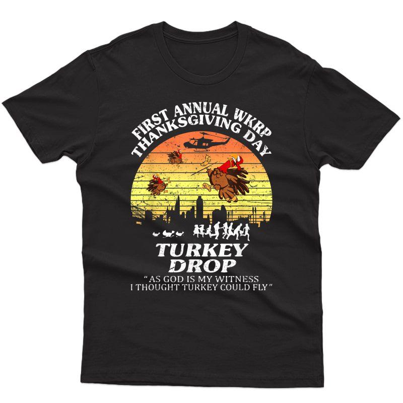 Wkrp-turkey-drop Thanksgiving Gift T-shirt
