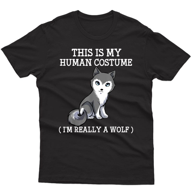 Wolf Halloween Costume Tee Boy Girl S T-shirt