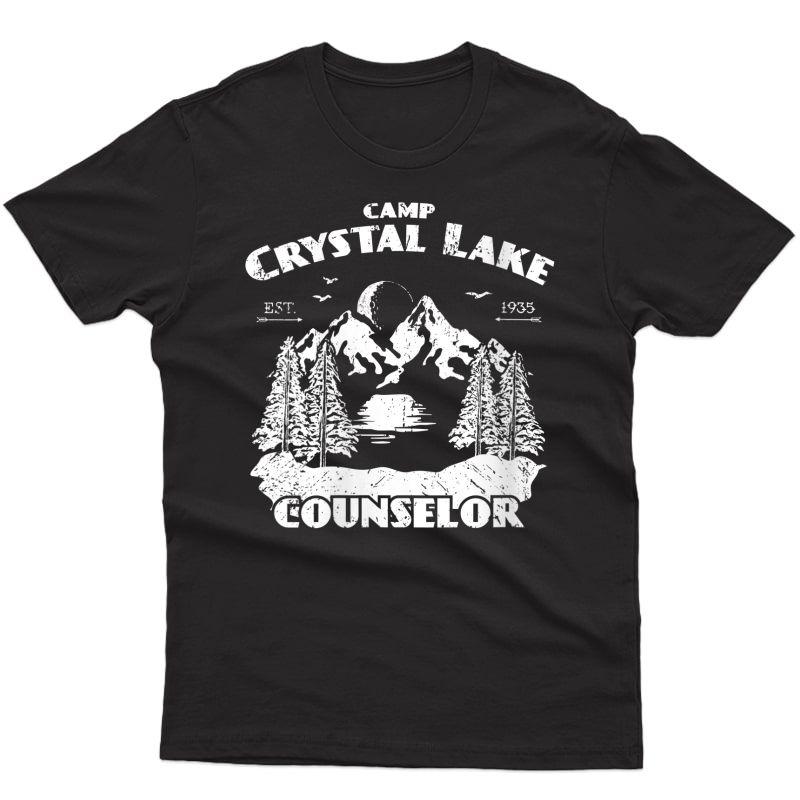 Camp Camping Crystal Lake Counselor Vintage Gift T-shirt