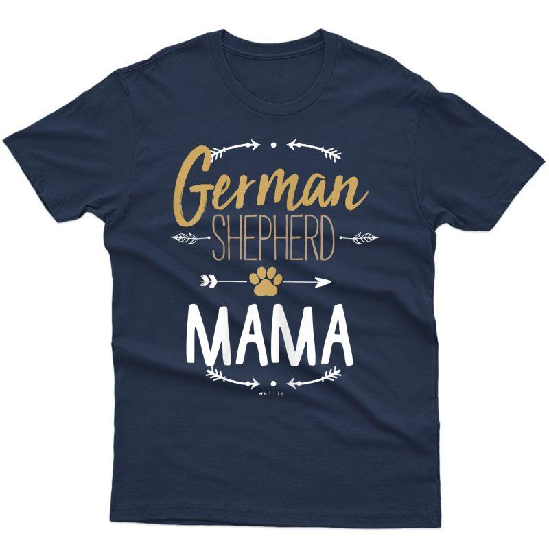 German Shepherd Mama Shirt Arrows Dog Lover Gifts For Mom