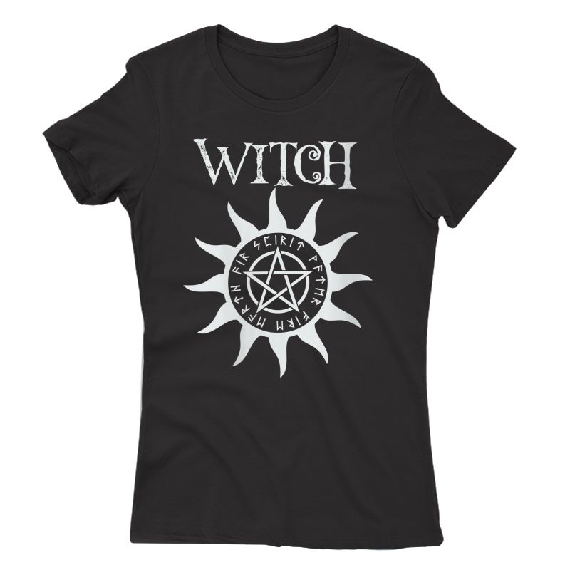 Witch Pentacle Pagan Wiccan Halloween Graphic T-shirt