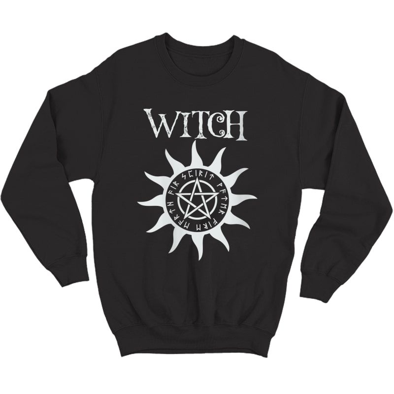 Witch Pentacle Pagan Wiccan Halloween Graphic T-shirt Crewneck Sweater