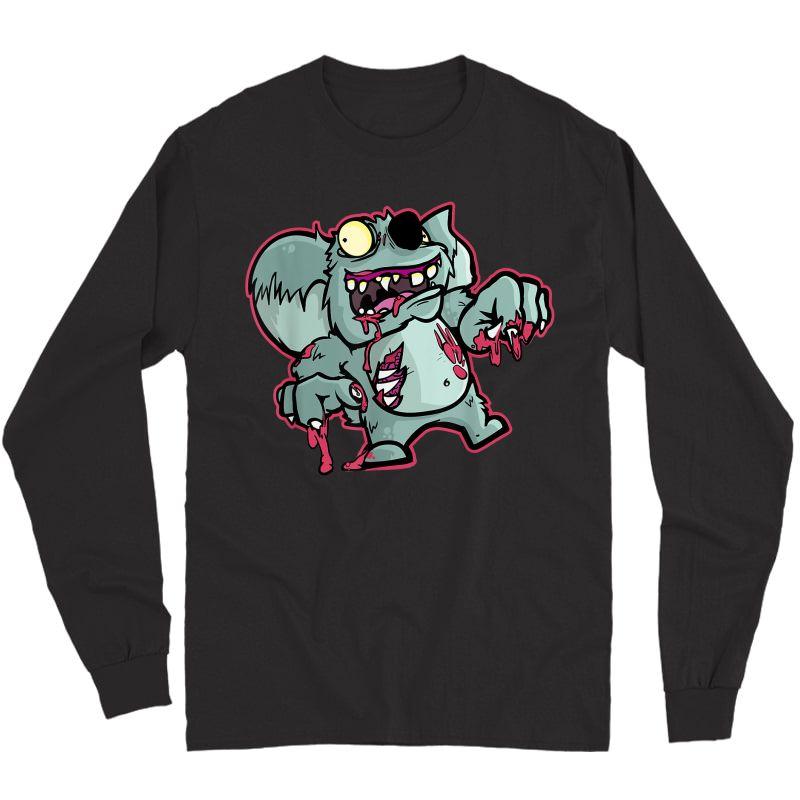Zombie Koala Bear   Funny Halloween Gift For Zoo Lovers T-shirt Long Sleeve T-shirt